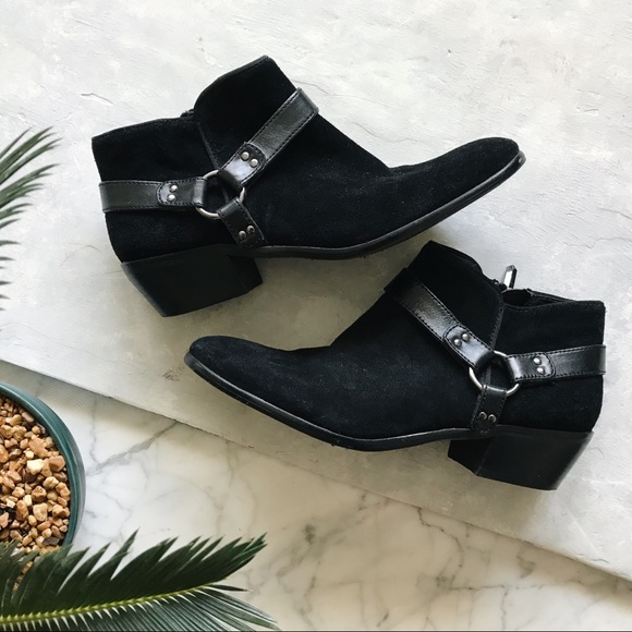 c6aaa457194 Sam Edelman Black Phoenix Ankle Boots - 8M